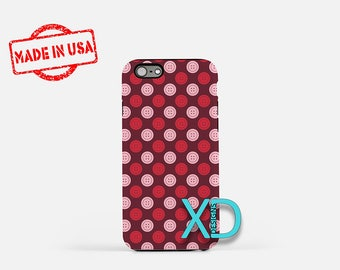 Red Button Phone Case, Red Button iPhone Case, Cute iPhone 7 Case, Pink, Red, Cute iPhone 6 Case, Red Button Tough Case, Clear Case, Chic