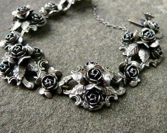 Peruzzi Jewelry,Italian Jewelry,Renaissance Revival Jewelry,Rose Jewelry,800 Silver Jewelry,Rose Bracelet,Silver Bracelet,Vintage Peruzzi