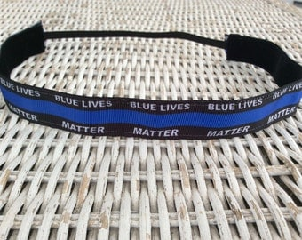Police Lives Matter Headband - Thin Blue Line Headband