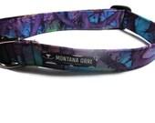 Dog Collar....tye dye style, purple dog collar, boy dog collar, girl dog collar, pet accessories, batik dog collar