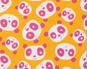 Panda Fabric Pandas Gold David Walker Pink Panda Fabric Free Spirit Fabric Hot Pink Orange Fabric Panda Quilt Hot Pink Fabric Orange-Yellow