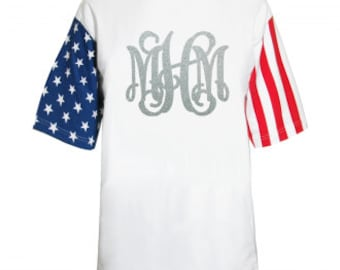 Stars and stripes Monogrammed T-shirt