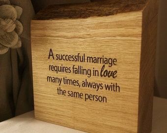 A Successful Marriage Requires…
