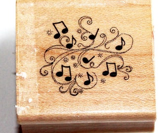 Musical Notes Party Rubber Stamp from Hero Arts Rubber Stamps