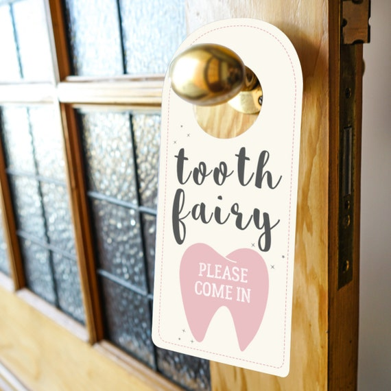 Tooth fairy door sign official tooth fairy sign tooth for Tooth fairy door