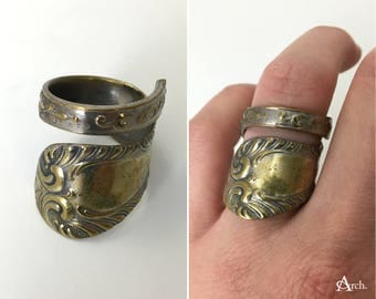 Handcrafted Upcycled Spoon Ring - Approx. Size 7.5