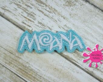 UNCUT Moana,  embroidered felt embellishment felties (set of 4)