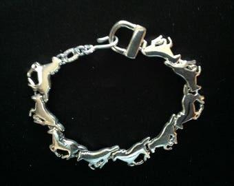 Vintage Horse Link Bracelet   (Germany)