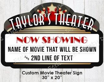 Custom Movie Theater Sign