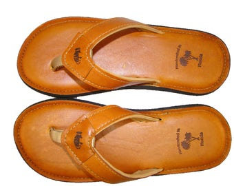 deLeon Leather Flip Flops-Men's
