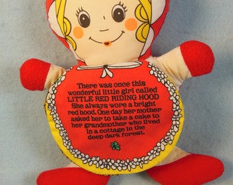 Vintage-Little Red Riding Hood-Storybook Doll-Gerber-Fabric
