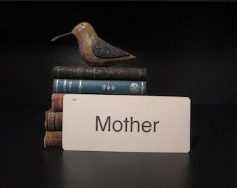 Vintage Flash Card Mother