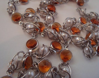 Swarovski Crystal unfinished Chain- Orange