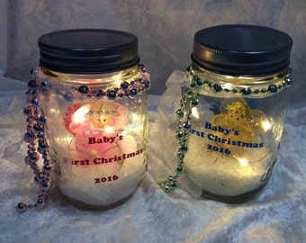 Babys First Christmas price for 1, picture shows back and front