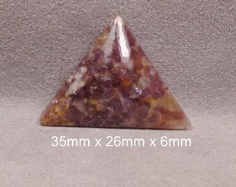 LEPIDOLITE With Citrene Cabochon