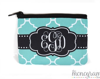 Monogram Coin Purse | Custom Coin Pouch | Personalized Gift | Mothers Day | Valentines Day Gift