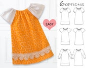 EASY baby dress pattern pdf, baby sewing pattern, baby peasant dress pattern pdf, baby dress sewing pattern, toddler pattern, ANNA baby