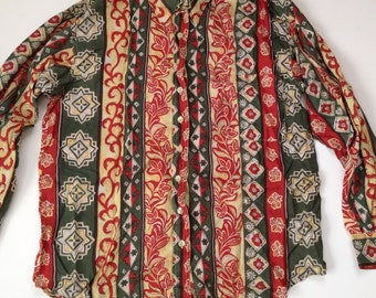 Silk Patterned Shirt