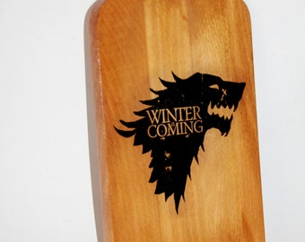Cutting board, wooden board, boards, kitchen decor, Game of Thrones,Stark, Winter is coming