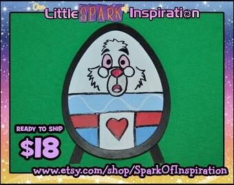 READY TO SHIP Alice in Wonderland White Rabbit Easter Egg
