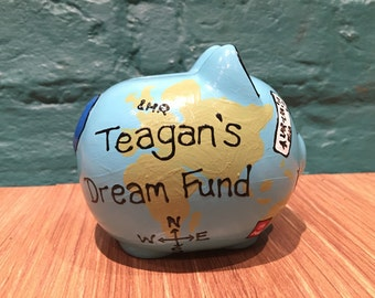 Around the world piggy bank