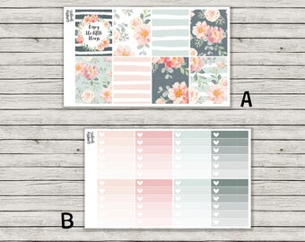 Summer Floral Vertical Weekly Kit - ECLP Stickers