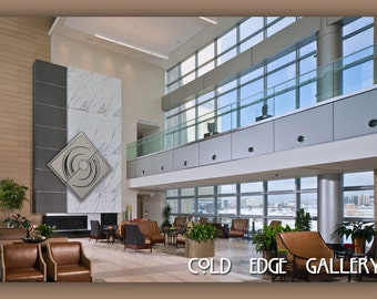 Corporate Office Art, Luxury Home Wall Art, Extra Large Wall Metal Art,  Contemporary