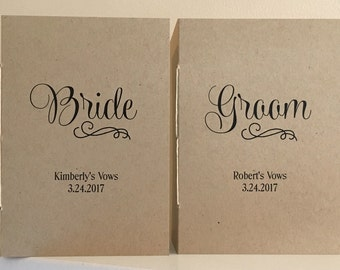 Vow Booklets - Set of Two - Personalized