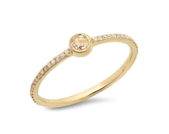 14K Gold Antique Rose Cut Diamond Ring