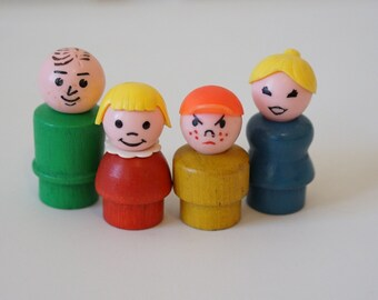 Fisher Price Little People Wood Family