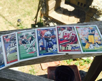 Football Cards Sports Memorabilia 7 Topps Players Card Year 1991 Antique Discoveries