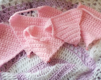 CROCHET Bunting -  Pink Bunting - Triangle Bunting - Handmade Bunting, Baby Pink Bunting, Baby Bunting, Baby Shower Gift, Baby Girl Gifts