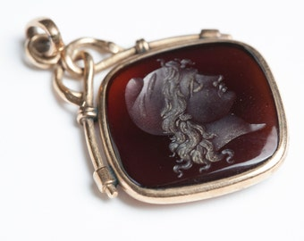 Gorgeous Gold and Carnelian Intaglio Watch Fob