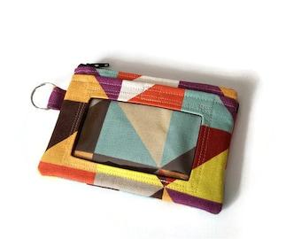 Geometric ID Wallet / Keychain ID Wallet / ID Holder