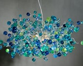 Customer order - sea bubbles chandelier  with 10% purple