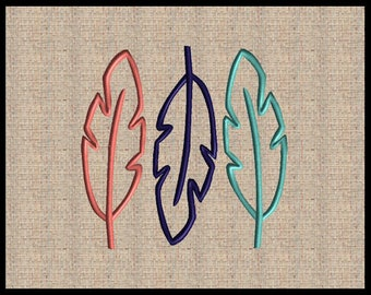 Feather  Machine Embroidery Design Tribal Embroidery Design