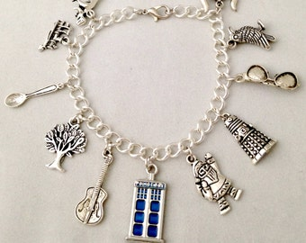 Doctor Who 12th Doctor Charm Bracelet - Peter Capaldi Twelfth Doctor Inspired Jewelry