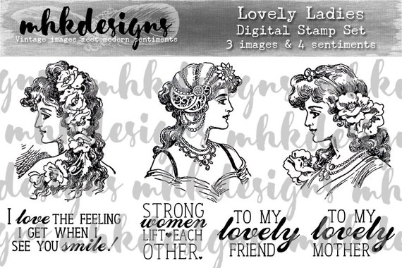 Lovely Ladies Digital Stamp Set
