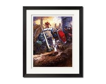 Mobile Suit Gundam x Takani Yoshiyuki Wonder Art Poster Print 0776