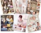 SALE Print Collage Photoshop Templates - Blog Storyboards - Six-Pack Bundle - 1080