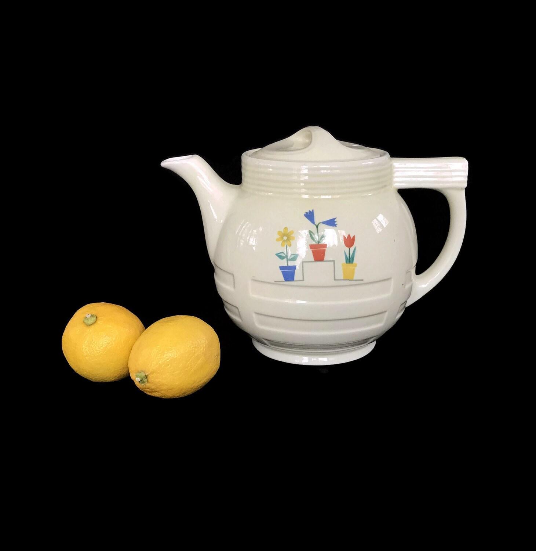 Vintage Drip O Later Coffee Pot Ceramic Pitcher Art Deco