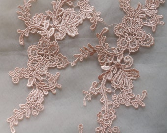 Soluble lace applique thick patch paste flowers wedding