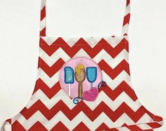 Child's Apron -  Apron - Art Apron - Cooking Apron - Embroidery Apron -