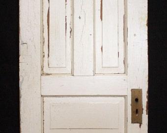 """26""""x84"""" Antique Vintage Victorian Solid Wood Wooden Interior Door 5 Raised Panel"""