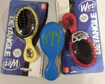 Mini Monogrammed Wet Brush