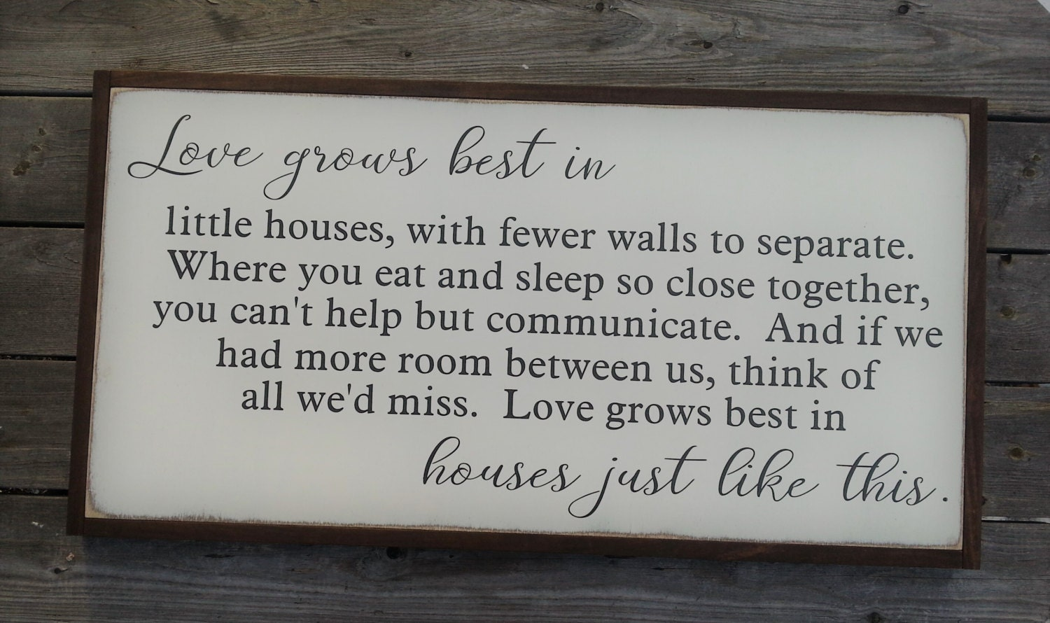 Download Love Grows Best In Little Houses Wood Sign Large Farmhouse