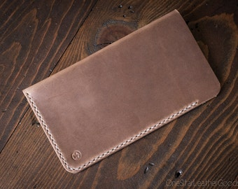 "iPhone 6 Plus (5.7"") Hand Stitched Horween Chromexcel leather sleeve, phone case, iphone case, iphone sleeve - natural chromexcel"