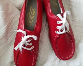 Red 60's Shoes