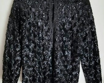 Sequined 60's Sweater