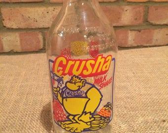 Vintage Crusha Unigate milk bottle shake up a Crusha milkshake!